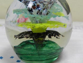Glass Paperweight - clear glass - 1930