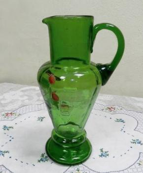 Glass Jug - blue-green glass - 1920