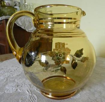 Glass Jug - glass - 1960