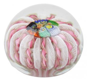 Glass Paperweight - clear glass - Millefiori - 1850