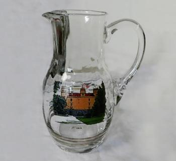 Glass Jug - clear glass - 1960