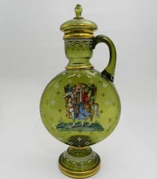 Glass Jug - green glass - 1880